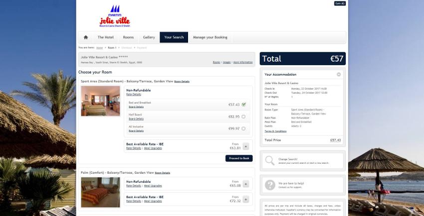Maritim Jolie Ville Resort & Casino - Booking Engine